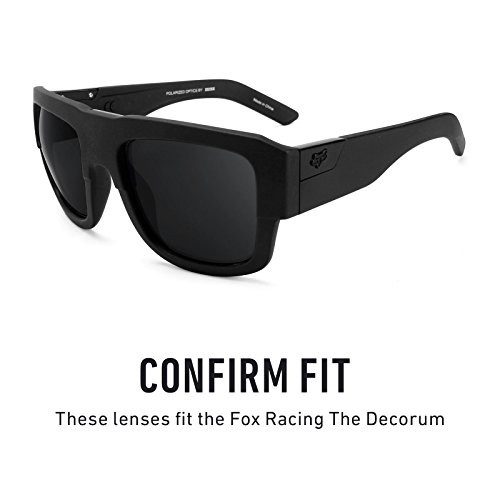 Decorum The Sigiloso Fox Racing Lentes para múltiples No — repuesto de Opciones Negro Polarizados vtwqXY