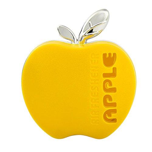 Holdream - Ambientador para coche con forma de manzana, con perfume de naranja, limó n, manzana, fresa, lavanda (rosa). limón