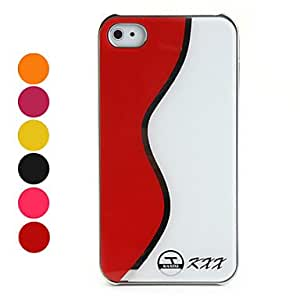 TOPMM Wave Pattern Hard Plastic Case for iPhone 4 and 4S (Assorted Colors) , Black