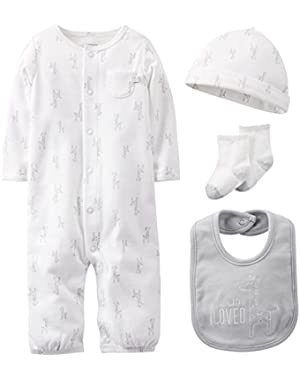 Unisex Baby 4-piece Take Me Home Layette Set