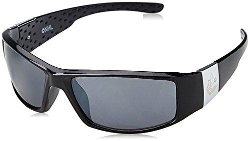 NHL Vancouver Canucks Adult Chrome Wrap Sunglasses, - Vancouver Sunglasses