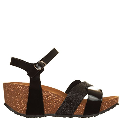 VialeScarpe Bav-68426ne_36, Sandales pour femme noir noir 36 Noir