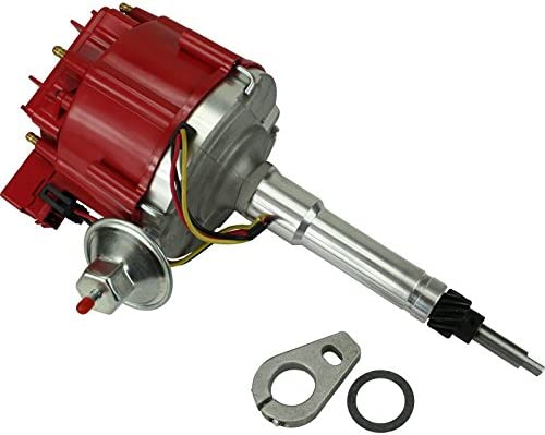 Dragon Fire High Performance Race Series Complete HEI Electronic Ignition Distributor Compatible Replacement For Chevrolet Chevy Inline 6 Cyl V6 194 235 261 270 322 Oem Fit DC6ADJ-DF