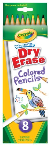 Crayola 8 Count Washable Dry-Erase Colored Pencils ()