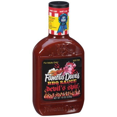 Famous Dave's Devil's Spit BBQ Sauce 19 oz. Plastic Bottle -