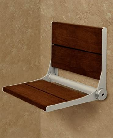 Amazon.com: Invisia SerenaSeat Fold-Away Brazilian Walnut Shower ...