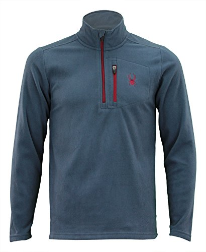 Spyder Men's Transport 1/4 Zip Pullover Sweatshirt, Color Variation (Ombre Blue, Large) (1/4 Pullover Microfiber Zip)