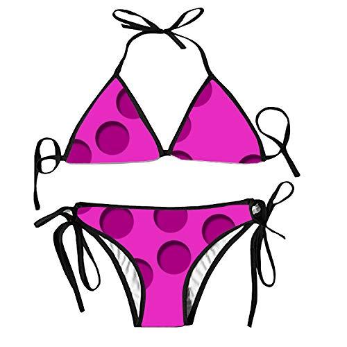 Polka Dots Women's Sexy Bikini Swimsuit Print Straps Swimwear (All Sexy Bikinis Polka Dots Bikini)