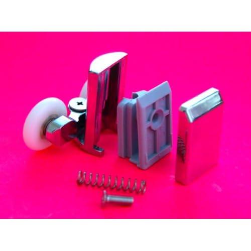 Shower Part 4 x Twin Bottom Zinc Alloy Shower Door Rollers/Runners/Wheels 23mm Wheel L067 80%OFF