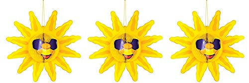 3 Pack - Hanging Tissue Sun -