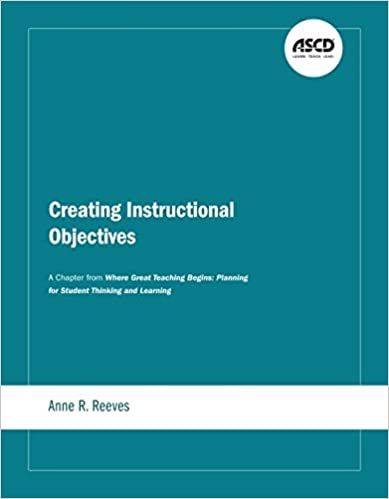 Amazon Creating Instructional Objectives A Chapter From Where
