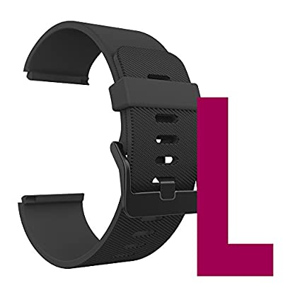 Anjoo for Fitbit Blaze Bands, Silicone Replacement Strap Wristband with Frame Case for Fitbit Blaze Smart Fitness Watch, Large/Small
