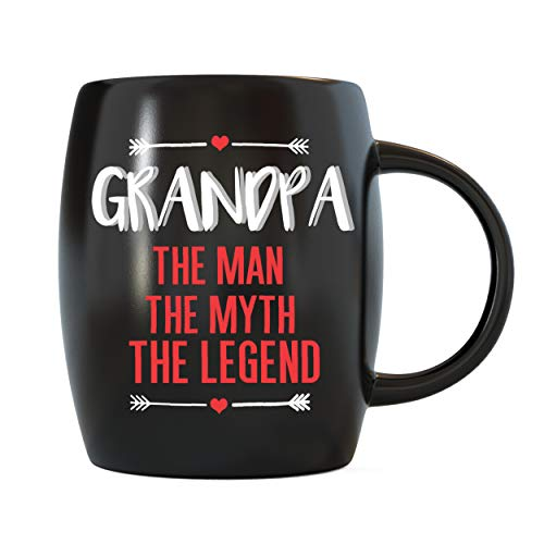 Father's Day Gifts for Grandpa The Man Myth Legend for World's Best Grandfather Ever Christmas Birthday Novelty Gift Ideas from Grandson Granddaughter Ceramic Coffee Mug Tea Cup by Mug A Day -