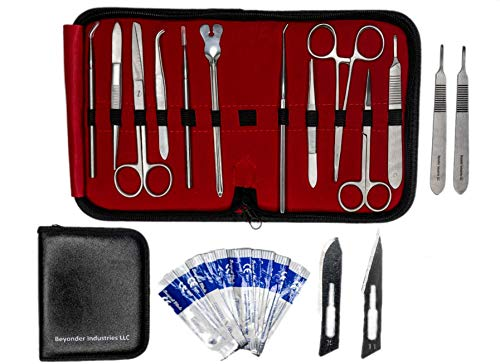 Dissection Kit 22 Pieces - Frog Dissection Kit, Pig Dissection Kit, for All Anatomy and Biology Medical Students by Beyonder Industries LLC ()