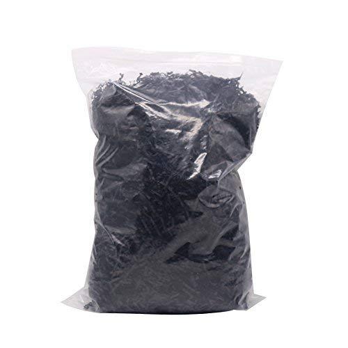 Paquete de relleno de papel triturado HRX para rellenar cestas de regalo, caja, bolsas (1,1 lb, negro)
