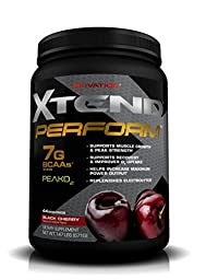 Scivation, Xtend Perform BCAAs + Peak O2, Black Cherry, 44 Servings