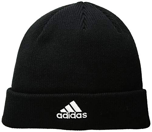 Adidas Embroidered Beanie - adidas Women's Team Issue Fold Beanie, Black/White, One Size