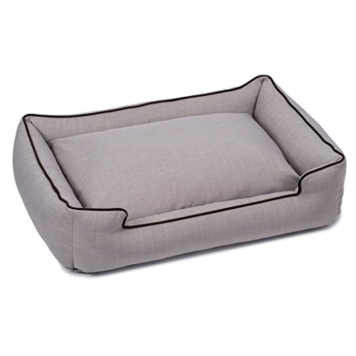 Jax and Bones Callen Earl Grey Textured Woven Lounge Bed-Medium by Jax & Bones