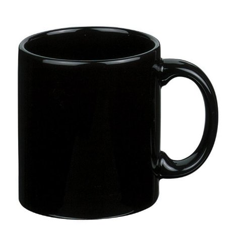 Waechtersbach Fun Factory II Black Mugs, Set of 4 (Waechtersbach Ceramic Mug)