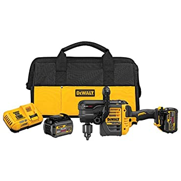 DeWalt DCD460T2 60V MAX 2 Battery FLEXVOLT Stud Joist Drill Kit, 1/2