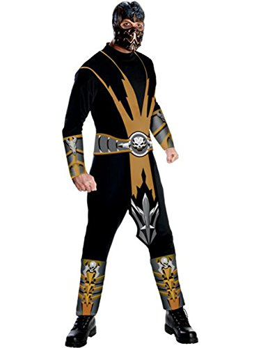 Scorpion Ninja Costumes (Mortal Kombat Adult Costume Scorpion - Large)