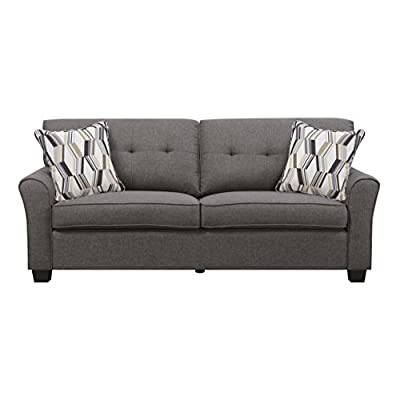 "Artum Hill Olivia Sofa, Espresso - The Olivia sofa combines contemporary styling with classic form Dimensions: 80"" Width, 35"" Depth, and 32"" Height Makes everyday life a little bit easier with features like durable upholstery and floor protectors - sofas-couches, living-room-furniture, living-room - 41MqPrPMeQL. SS400  -"
