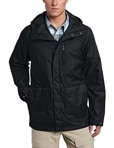Columbia Men's Dr. Downpour Rain Jacket, Small, Black