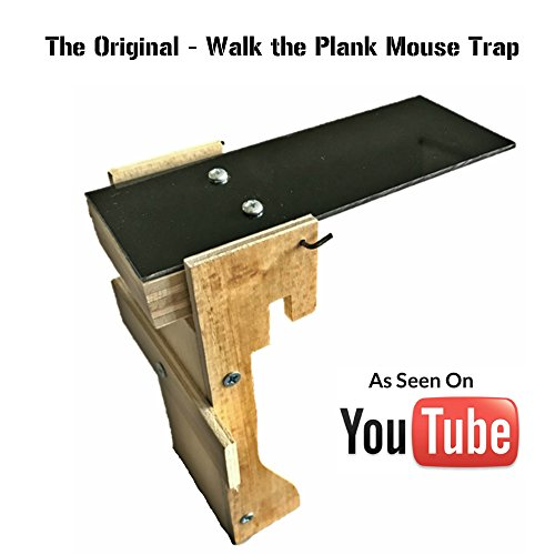 The Original - Walk the Plank Mouse Trap - Exact Trap from YouTube - Handcrafted In The USA - Kill / No Kill Trap For Mice, Rats, Rodents & Other Pests - Humane Non Poison - Best Trap Ever Tested by Original Walk The Plank Mouse Trap