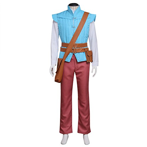 CosplayDiy Men's Suit for Tangled Prince Flynn Rider Cosplay Costume L