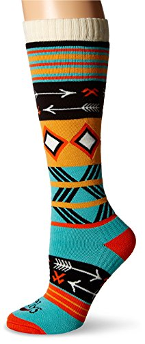 Hot Chillys Womens Socks - Hot Chillys Women's Primitive Pop Mid Volume Socks, Medium, Primitive Pop/CYN