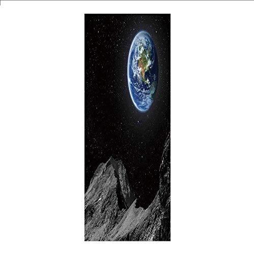 Yaoni - Película decorativa 3D para ventana, sin pegamento, galaxia, estrellas del espacio exterior, Sky Dreamy Cosmos...