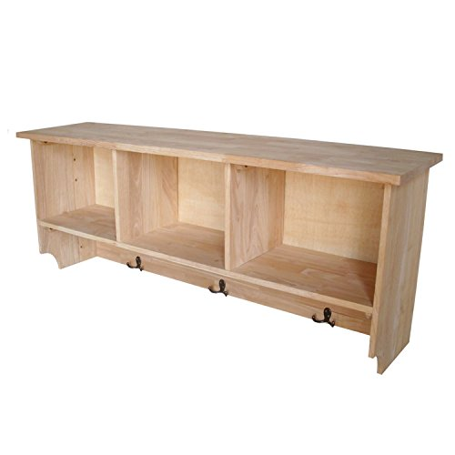 International Concepts Wall Shelf Unit with Storage by International Concepts
