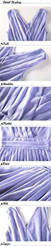 Fortuning's JDS Eleganter Purple faltete Verpackung Design-Frontseite V-Ansatz Reich-Taille Chiffon Minikleid