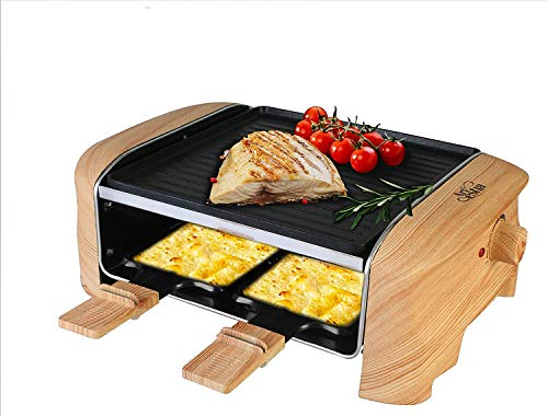 Artestia Electric Raclette Grill with Non-Stick Aluminum Plate, 600W Max Power ETL Certified (Aluminum Reversible Plate Half Size Raclette) For Sale