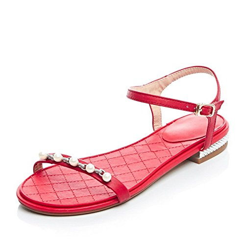 1TO9, Sandali Donna, Rosso (Red), 35