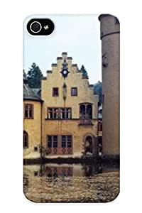Cirbjk-2343-aklkwkj Tpu Phone Case With Fashionable Look For Iphone 4/4s - Mespelbrunn, Bavaria, Germany Case For Christmas Day's Gift