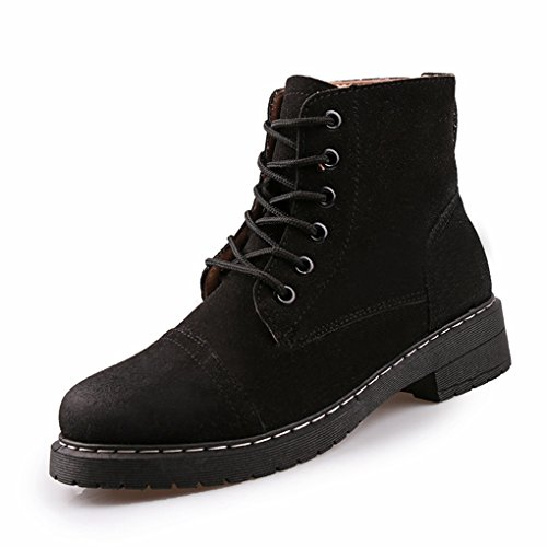 CYBLING Fashion Western Cowgirl Low Ankle Booties for Outdoor Casual Closed Toe Hiking Boots Black VUr52x6