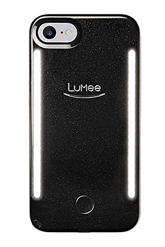 release date: a77da 13a6e LuMee Duo Vibes iPhone Xs Max Black Glitter | Sync to Music LED Lights |  Front & Back LED Lighting, Selfie Phone Case | Multi-Use Kickstand Ring |  ...