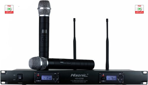 Hisonic HSU288 Dual UHF True Diversity 200-Ch Wireless Microphone System with Automatic Frequency Pairing ()