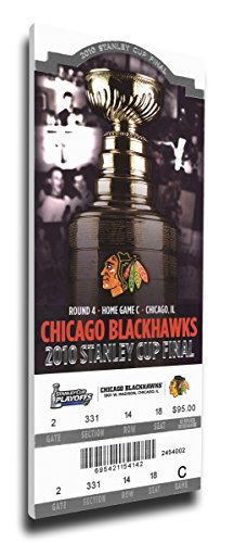2010 NHL Stanley Cup Final Canvas Mega Ticket - Chicago Blackhawks