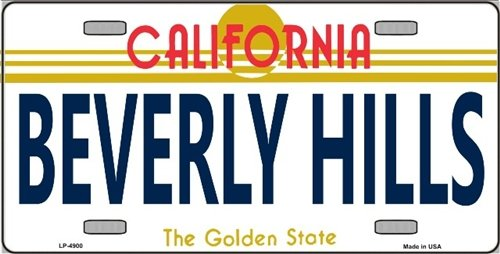 - Smart Blonde LP-4900 Beverly Hills California Novelty Metal License Plate
