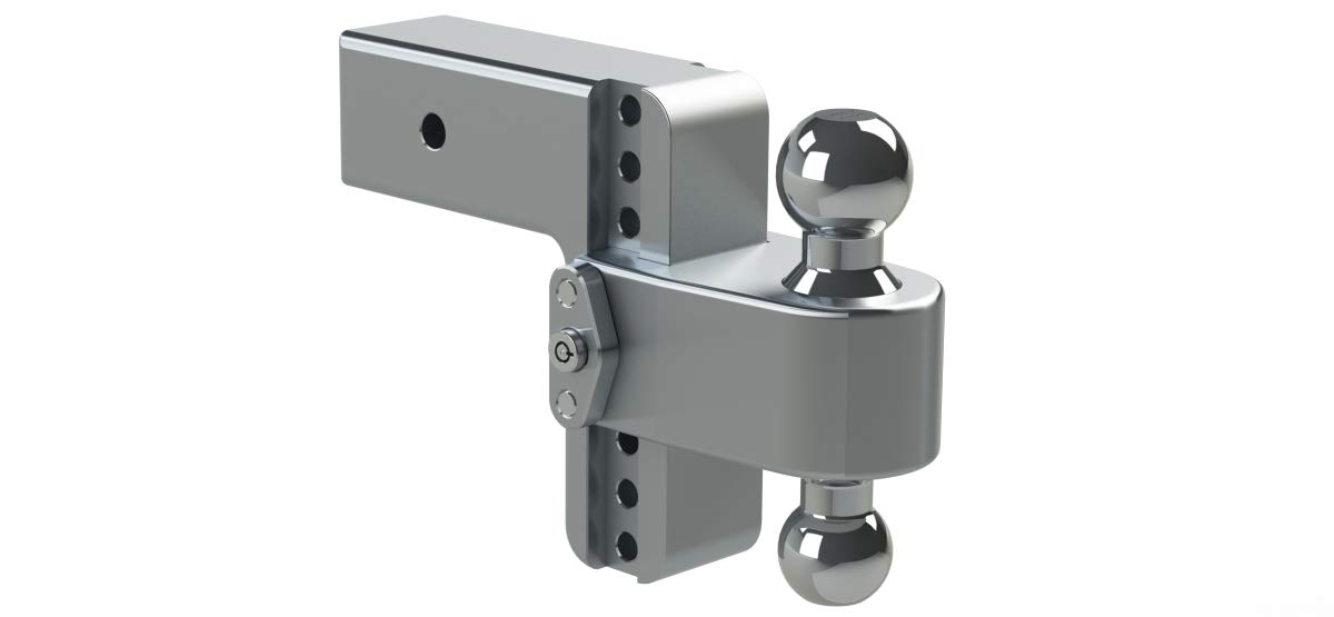 180 Hitch by Weigh Safe 3 Shaft LTB6-3 with WS03 Key Lock Assembly 6-inch Drop
