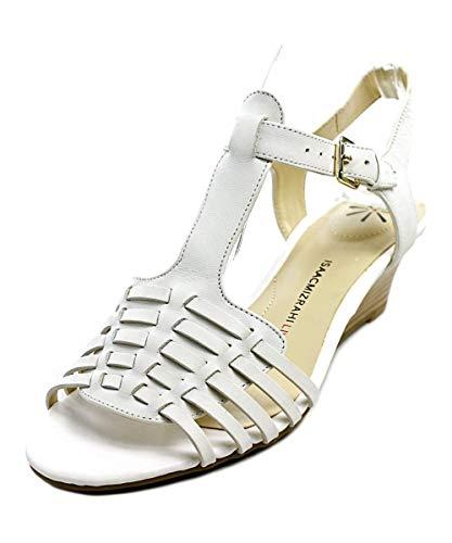 Isaac Mizrahi Live! Women's Kylee Wedge Sandals-White-10W from Isaac Mizrahi Live!