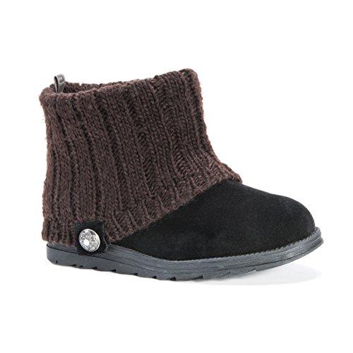 Mukluks MUK LUKS Women's Patti Boots Ankle Bootie, Grey, 8 M US Black