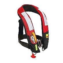 [CE Approved] Inflatable Life Jacket Vest Survival Preserver, Lifesaving PFD, Lightweight Premium Quality, Manual, 150KG (330LB)