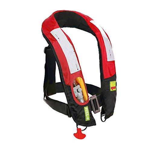 Aufblasbar Life Jacket Life Vest Sichtbare Automatische, rot