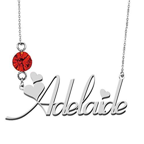 HUAN XUN Custom Name Pendant Choker Necklace Adelaide