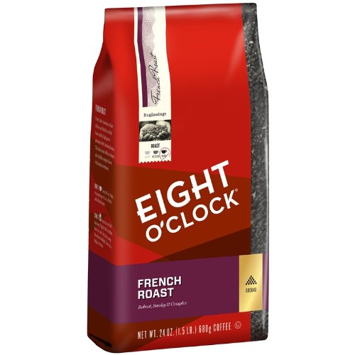 Eight O'Clock Ground Coffee, French Roast, 24 Ounce
