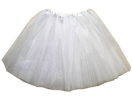 Lovelyprincess Fluffy 4layers Adult Ballet Tutu Skirts,white color Plus Size,White,X-Large