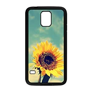 Sunflower Use Your Own Image Phone Case for SamSung Galaxy S5 I9600,customized case cover ygtg562055